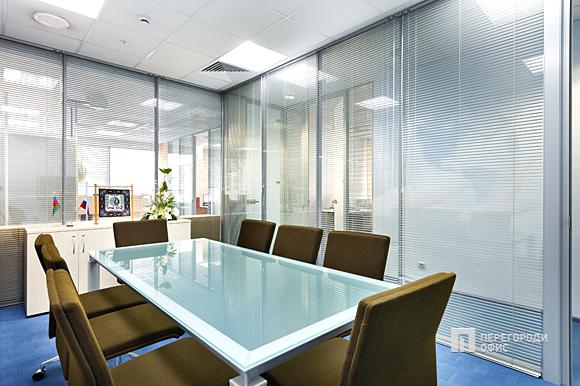 Какие способы декорирования используют офисные перегородки из стекла?